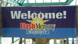 Logo des Flash Memory Summit (Foto: Marc Sauter/Golem.de), Flash Memory Summit 2017