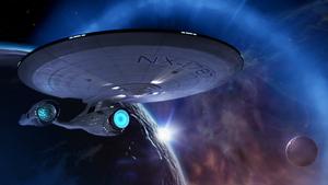 Die USS Aegis, ein für das VR-Spiel Star Trek Bridge Crew erfundenes Schiff (Screenshot: Ubisoft), Holodeck