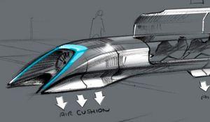 Konzeptzeichung für den Hyperloop: fünfte Form der Beförderung (Bild: Elon Musk/Space X), Hyperloop