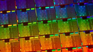 Wafer mit 10-nm-Ice-Lake-Chips (Bild: Intel), Intel Ice Lake