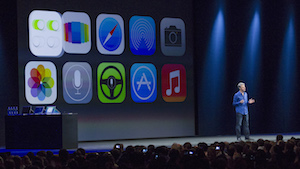 Apple iOS (Bild: Kim White/Getty Images), iOS