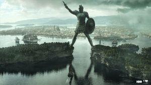 Preisgekrönte Arbeit: der Koloss von Braavos aus Game of Thrones (Bild: HBO/Mackevision), Mackevision