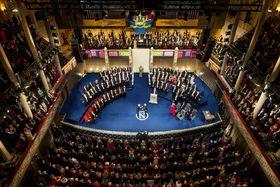 Verleihung des Nobelpreises (Foto: Alexander Mahmoud/Nobel Media), Nobelpreis