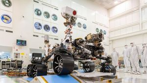 Mars-Rover Perseverance vor dem Start (Bild: Nasa/JPL-Caltech), Perseverance