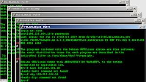 Putty unter Microsoft Windows XP (Bild: Kaarlo/Wikimedia), Putty