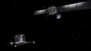Raumsonde Rosetta und Lander Philae (Bild: J. Huart/Esa), Rosetta