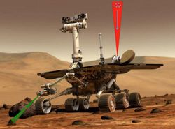 Marsrover mit Traktorstrahl (Symbolbild): nur winzige Objekte bewegen (Bild: Paul Stysley/Nasa), Traktorstrahl