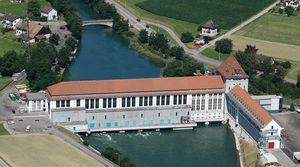 Wasserkraftwerk in der Schweiz (Bild: Alpiq), Wasserkraft