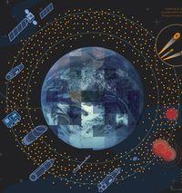 Weltraumschrott: Überreste aus über 50 Jahren Raumfahrt (Bild: Nasa), Weltraumschrott