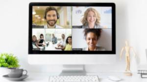 Die Videokonferenzsoftware Zoom im Einsatz. (Bild: Zoom), Zoom